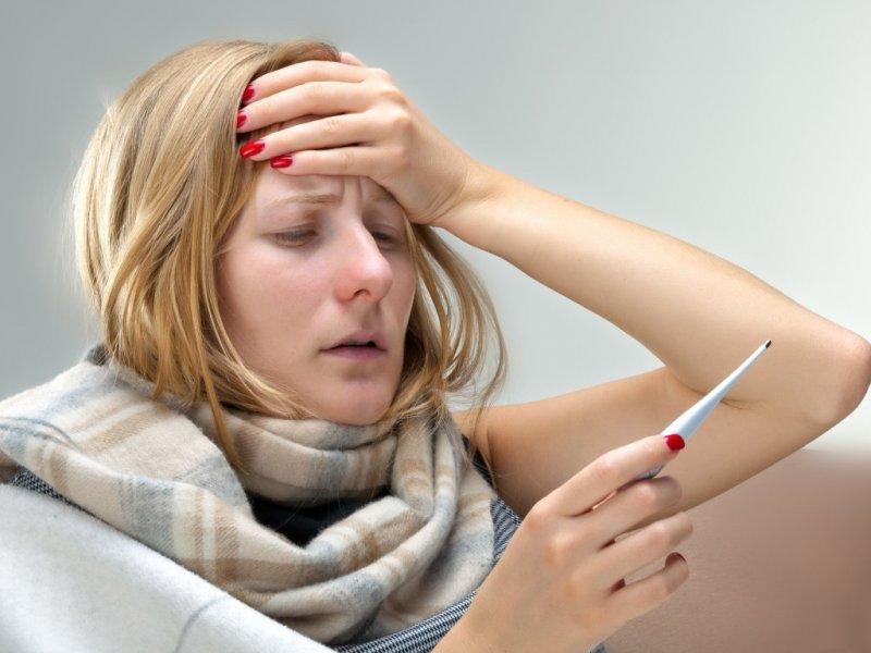Лихорадка при умеренном течении возникает в течение 1-3 дней