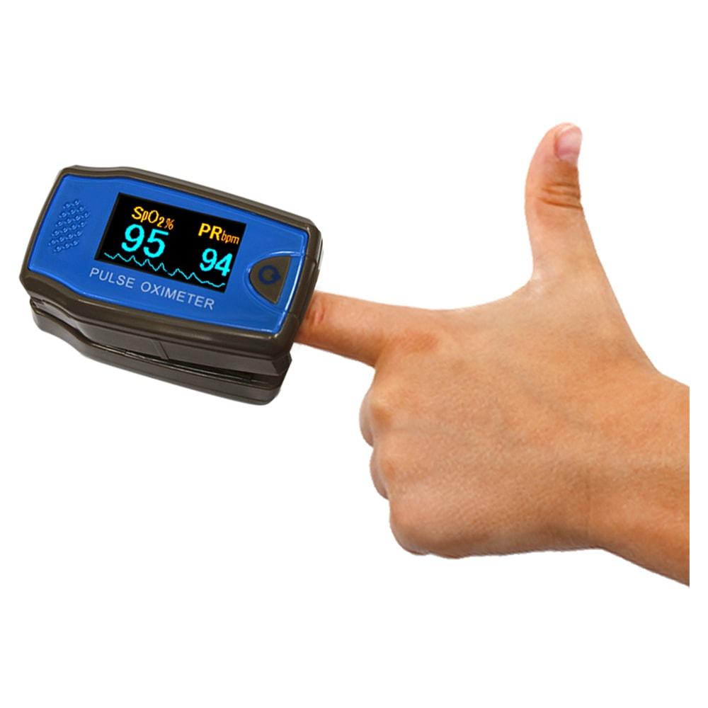 Этот прибор оценивает уровень насыщения крови кислородом